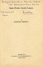 Статья Ридли в трудах Офтальмологического сообщества