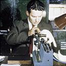 Измерение оптической силы ИОЛ в 1958г.