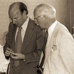 Джон Ингхэм (производственный директор) и Гарольд Ридли, 1978